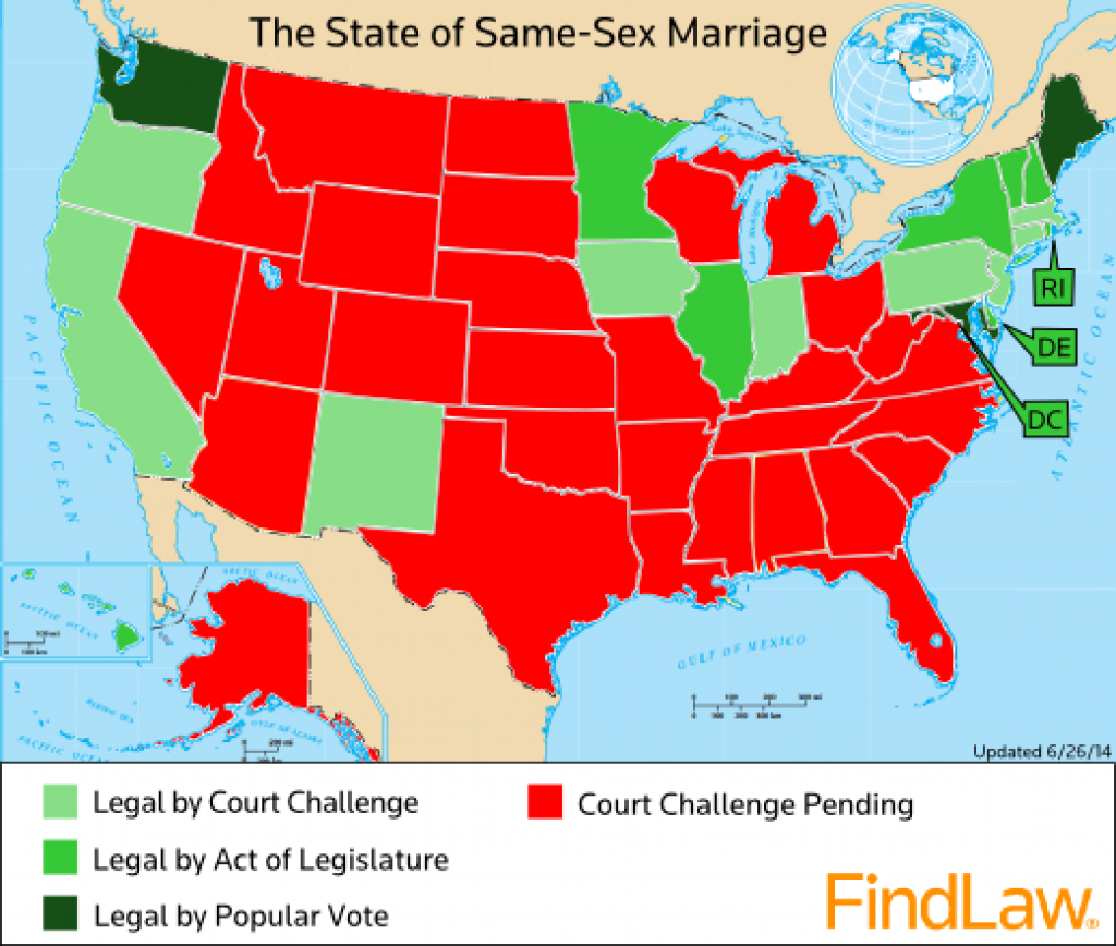 The State Of Gay Marriage In America, 1 Year After Windsor (Map with regard to Map Of Gay Marriage States 2014