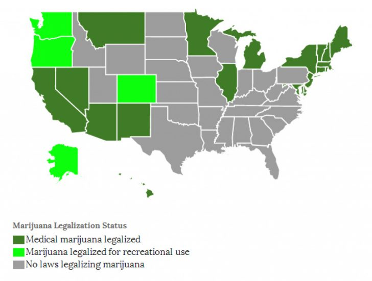 States Where Weed Is Legal Map