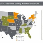 The Top 10 Tax Friendly States To Retire In   Republic Wealth Advisors Inside Retirement Friendly States Map