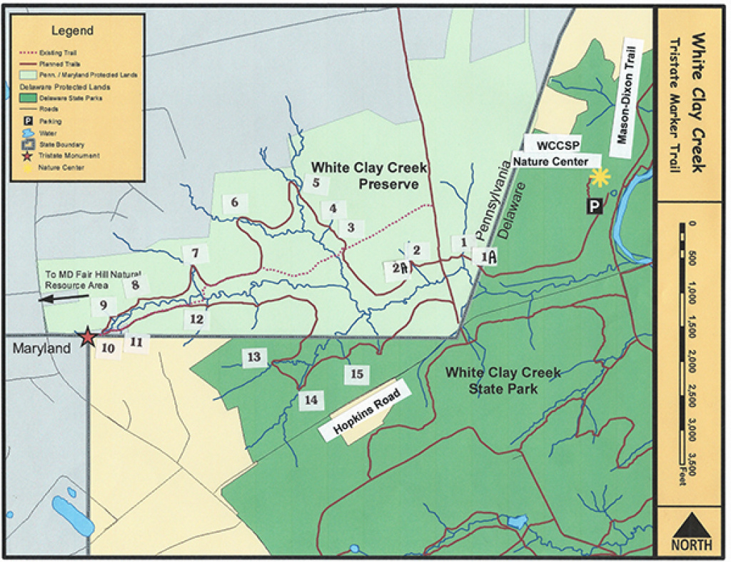 The Tri-State Trail - Friends Of White Clay Creek Preserve throughout White Clay Creek State Park Trail Map