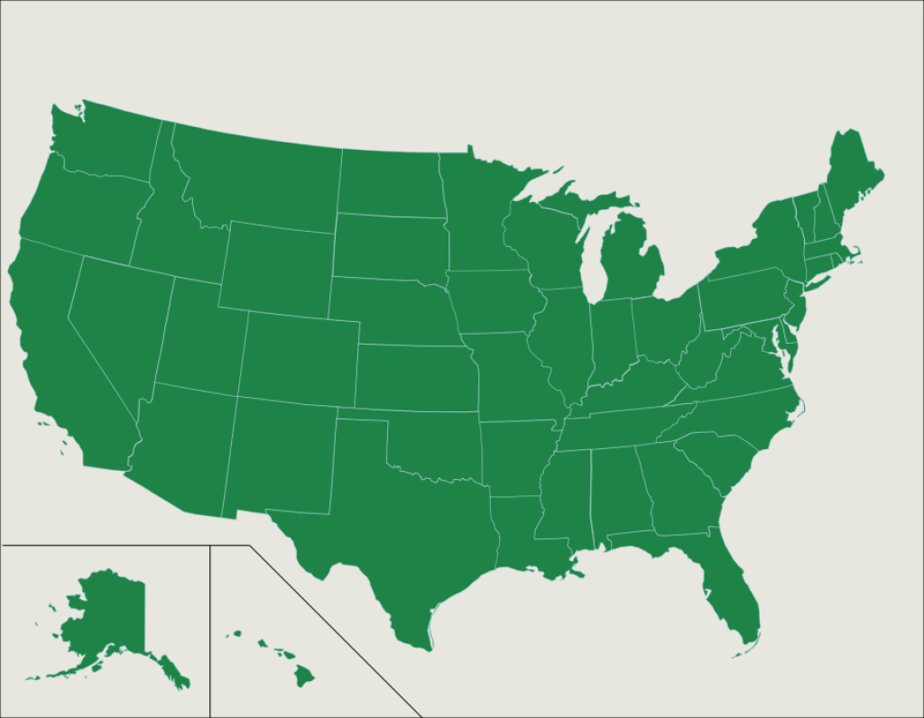 The U.s.: 50 States - Map Quiz Game in Mexico States Map Quiz