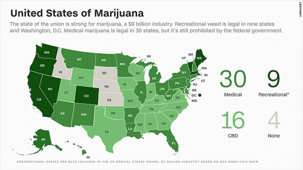 The U.s. Legal Marijuana Industry Is Booming inside States Where Weed Is Legal Map