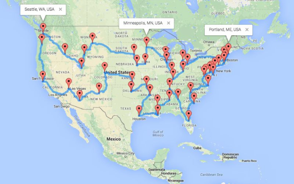 The Ultimate Motorcycle Road Trip Across The Us - The Usa Trailer Store throughout United States Road Trip Map