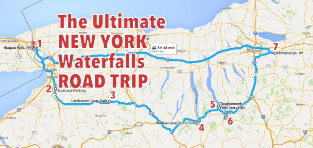 The Ultimate New York Waterfalls Road Trip in New York State Tourism Map