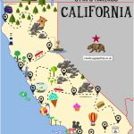 The Ultimate Road Trip Map Of Places To Visit In California   Hand Regarding United States Road Trip Map