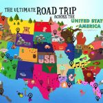 The Ultimate Road Trip Map Of Things To Do In The Usa   Hand Luggage With United States Road Trip Map