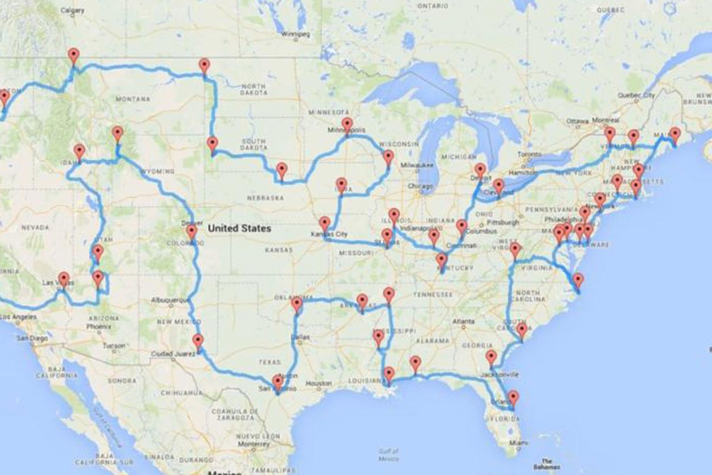 The Ultimate U.s. Road Trip, According To A Data Scientist - Curbed with United States Road Trip Map