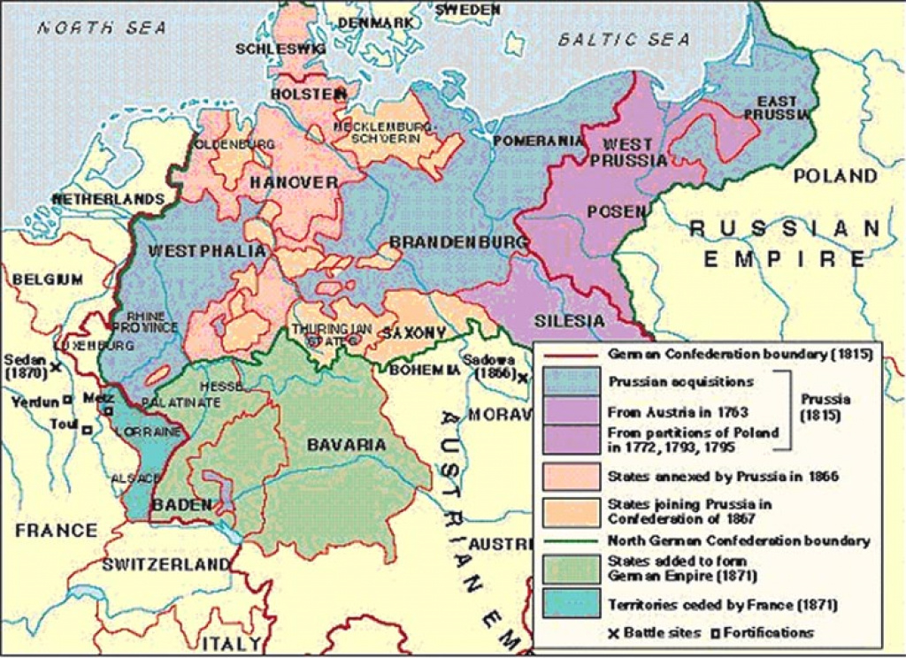 The Unification Of Germany 1864-1871 regarding German States Map 1850