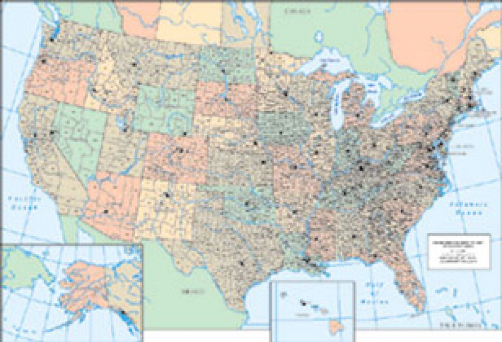 The United States Genealogical County Map – Genealogyblog with regard to United States Map With County Names