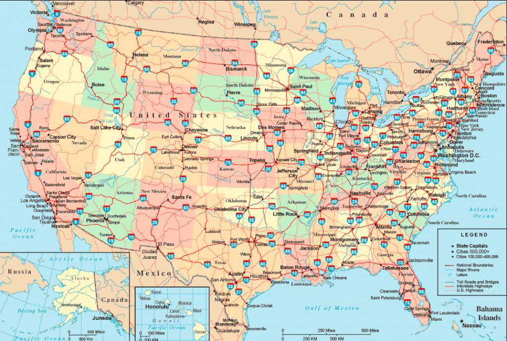 The United States Interstate Highway Map | Mappenstance. in State Highway Map