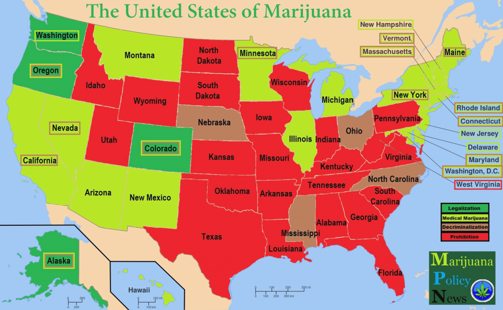 The United States Of Marijuana - Medical Marijuana regarding Medical Marijuana States Map