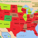 The United States Of Marijuana   Medical Marijuana Throughout States Where Weed Is Legal Map 2016