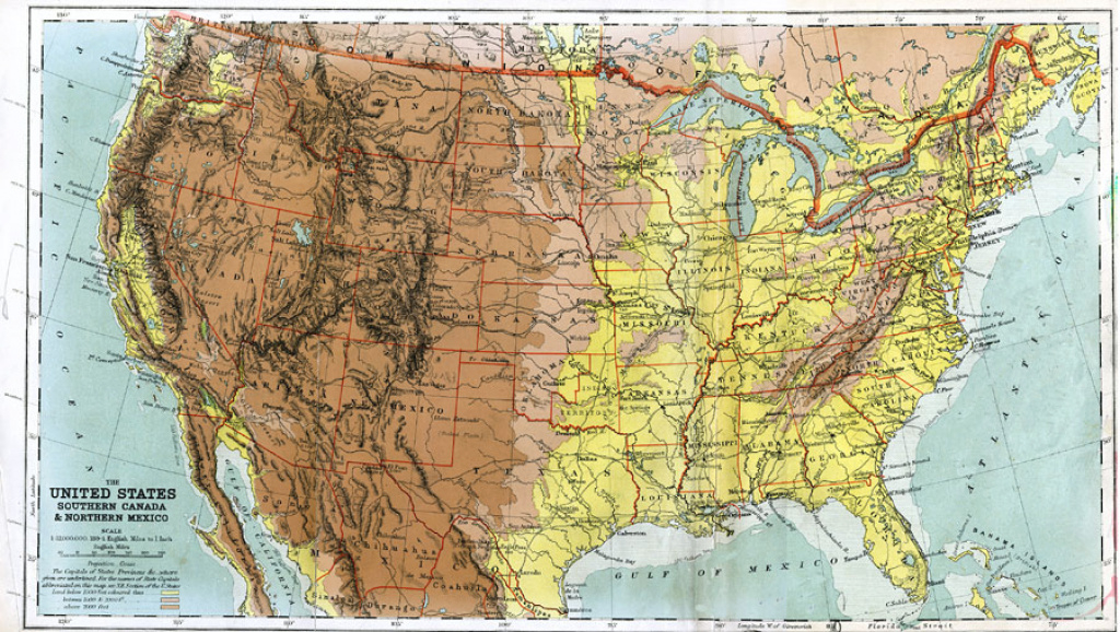 The United States, Southern Canada And Northern Mexico within Physical Map Of The Southeast United States