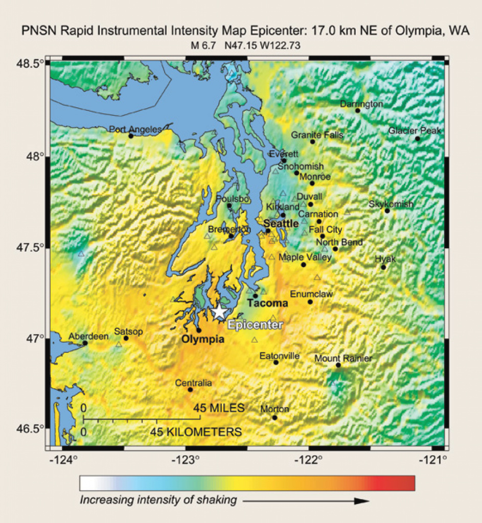 The Usgs Earthquake Hazards Program In Nehrp— Investing In A Safer throughout Usgs Earthquake Map Washington State