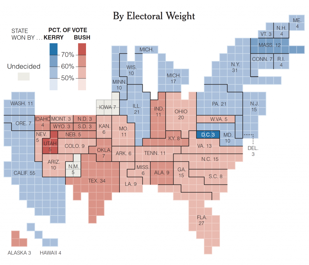 There Are Many Ways To Map Election Results. We've Tried Most Of throughout Electoral Votes By State Map