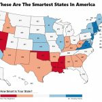 These Are The 10 Smartest States In America   Zippia For Iq By State Map