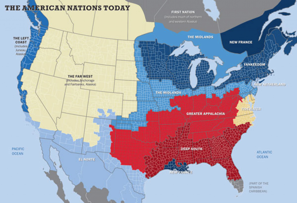 These Disunited States: Two Geographic Visions Of America's Deep regarding Disunited States Of America Map