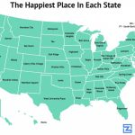This Awesome Map Shows The Happiest Place In Each State   Zippia Throughout Is State Map