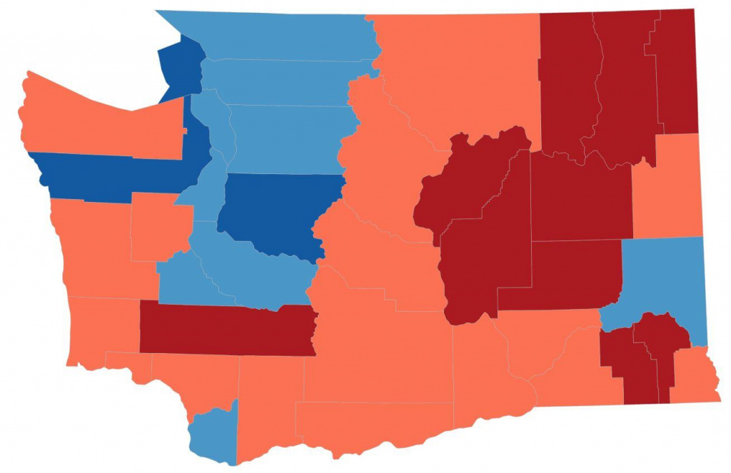 This Election Map Is A Lie. So We Made New Ones | Kuow News And within Washington State Presidential Election Map