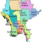 This Is A Map Of Burma With Seven State And Seven Regions. Burma Is Pertaining To Map Of Myanmar States And Regions