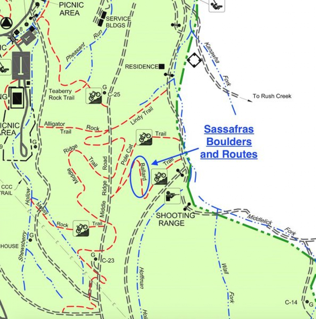 This Is The Kanawha State Forest Map, And At The Top Of Ballard inside Kanawha State Forest Hunting Map