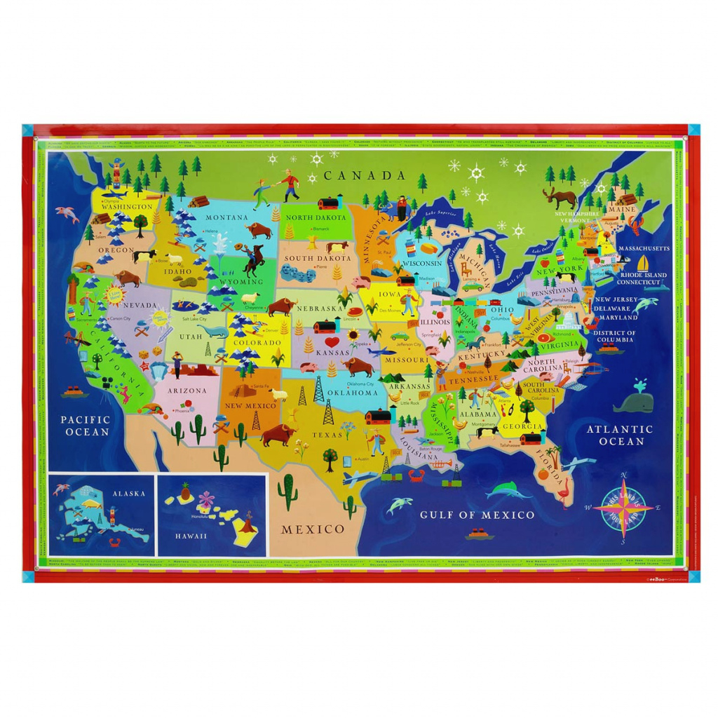 This Land Is Your Land Kids' Map | Children's Usa Wall Map throughout State Map For Kids
