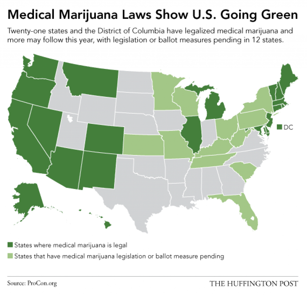 This Map Shows Just How Quickly America Has Embraced Marijuana regarding Medical Marijuana States Map