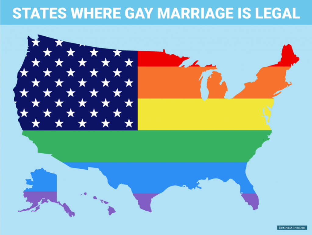 This Map Sums Up Today's Historic Supreme Court Ruling - Business with regard to Map Of States Legalized Gay Marriage