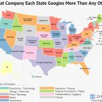 This Surprising Map Shows What Company Each State Googles More Than With Map Of Who Won Each State