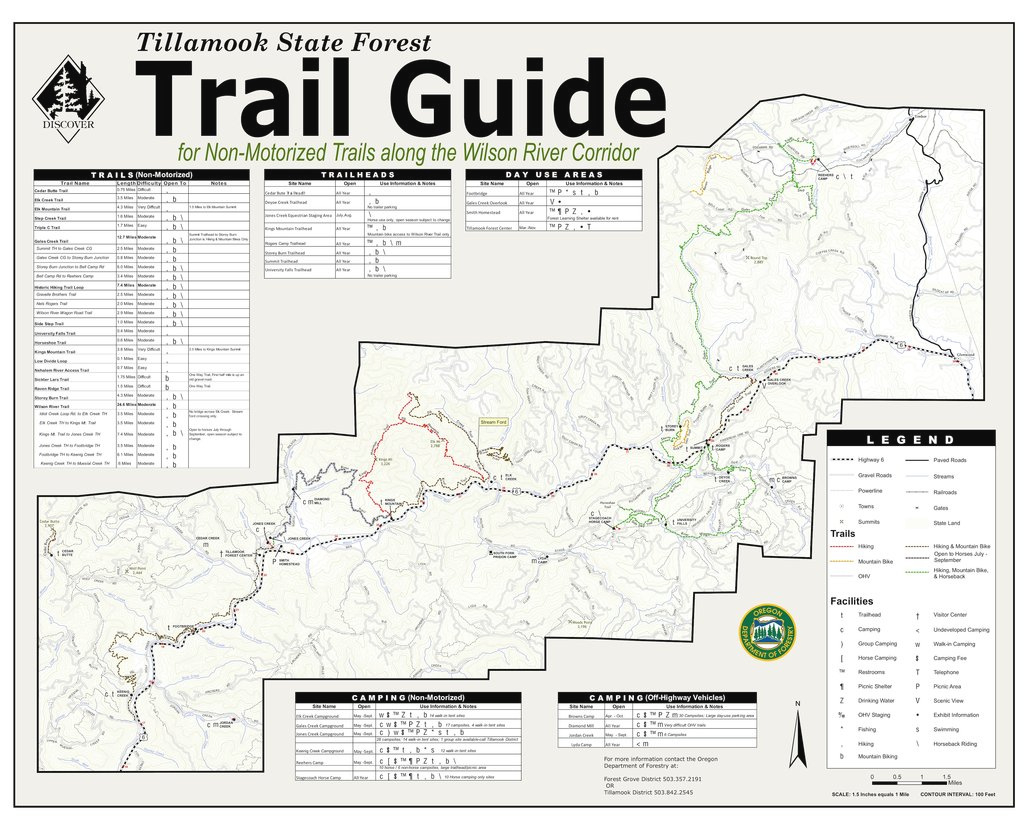 Tillamook State Forest Trails - Maplets in Tillamook State Forest Camping Map