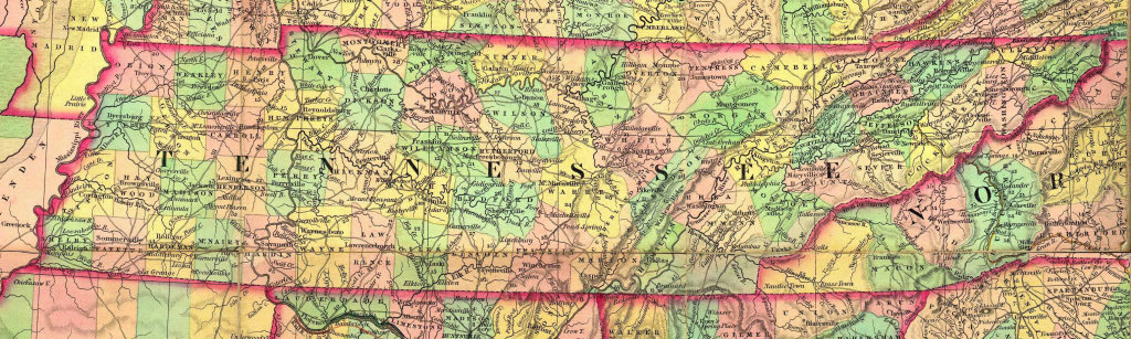 Tn Historical County Lines intended for Tennessee Alabama State Line Map
