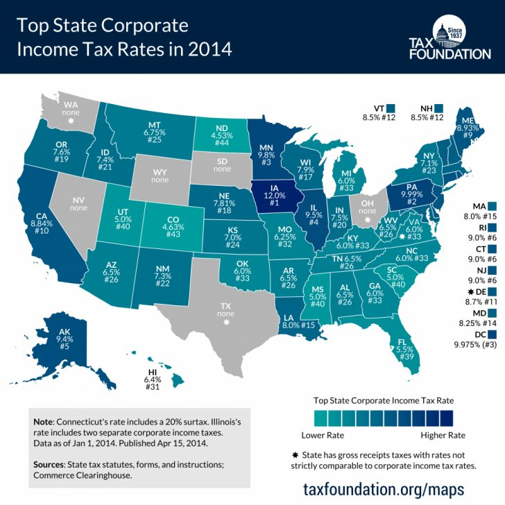 States Without Income Tax Map