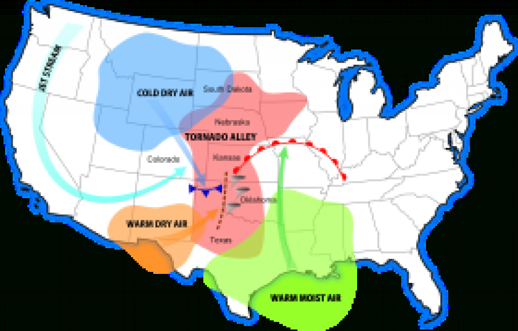 Tornado Alley - Wikipedia throughout Tornado Alley States Map