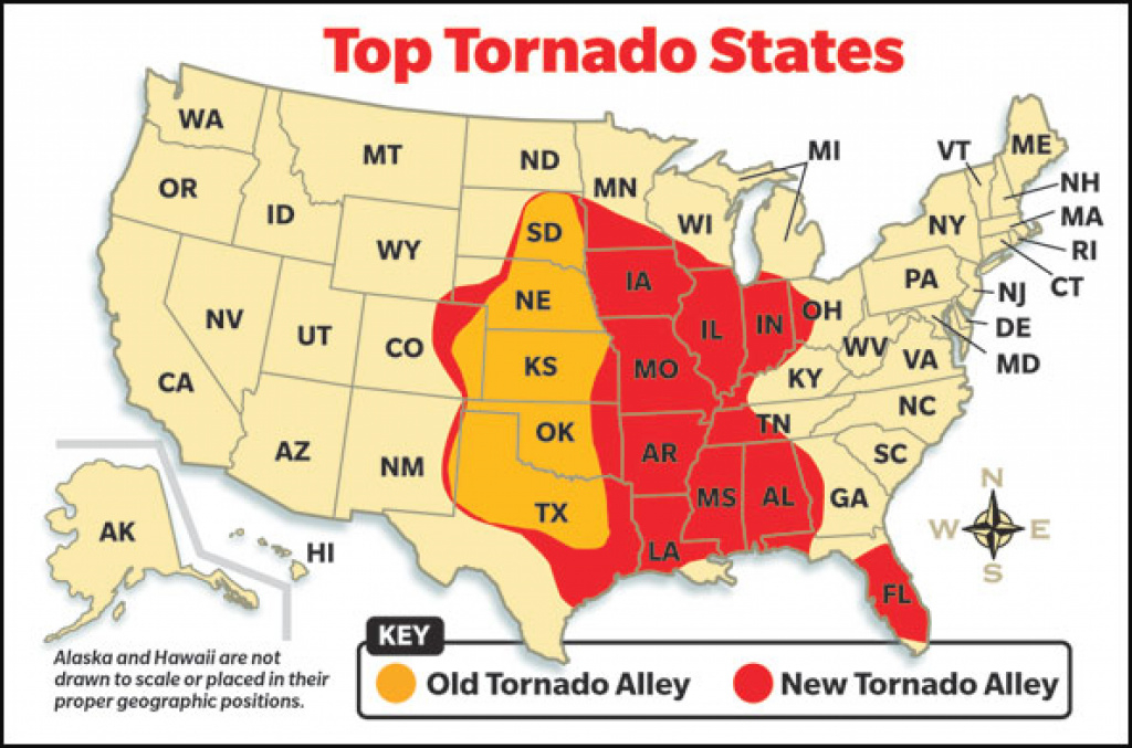 Tornado Country | Scholastic News Online | Scholastic inside Tornado Alley States Map