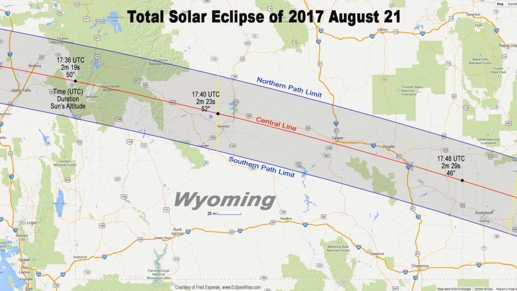 Totality Mapsstate – American Eclipse 2017 intended for Eclipse Maps By State