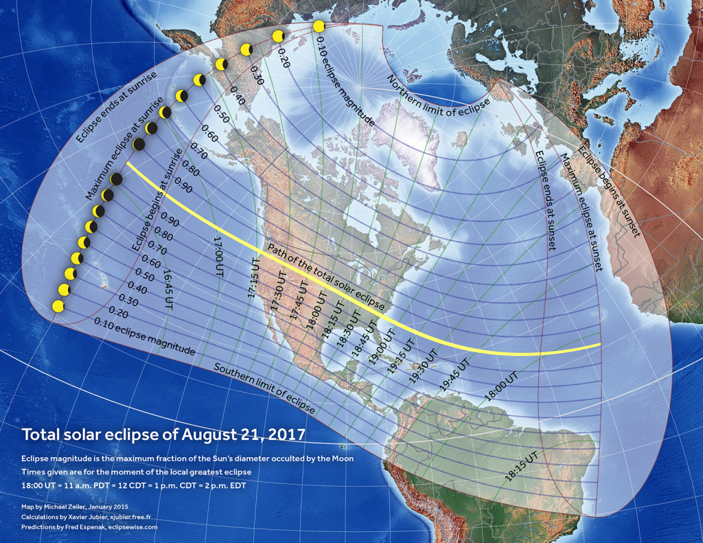 Totality Mapsstate – American Eclipse 2017 throughout Eclipse Maps By State