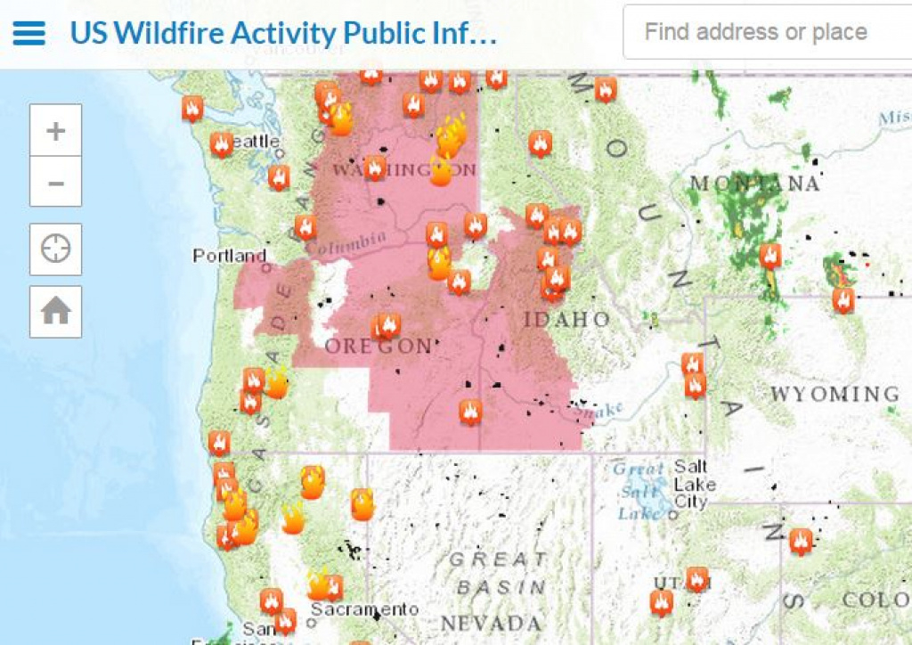 Track Wildfires Across The Western Us With Interactive Esri Maps inside Map Of The Washington State Fires