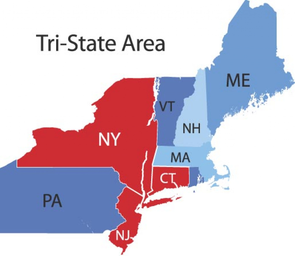 Tri State Area (Ny, Nj, Ct) Jobs - Real Estate Job Site intended for Tri State Map