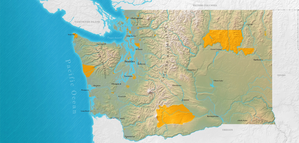 Tribes Map | Washington Tribes intended for Washington State Tribes Map