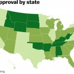 Trump Approval Ratingstate   Vox Intended For Trump States Map