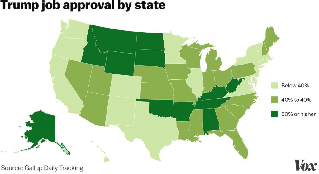 Trump Approval Ratingstate - Vox intended for Trump States Map