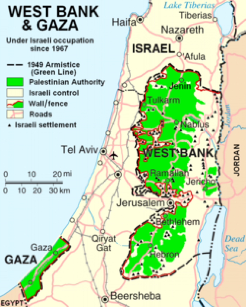 Two-State Solution - Wikipedia intended for Palestine Two State Solution Map