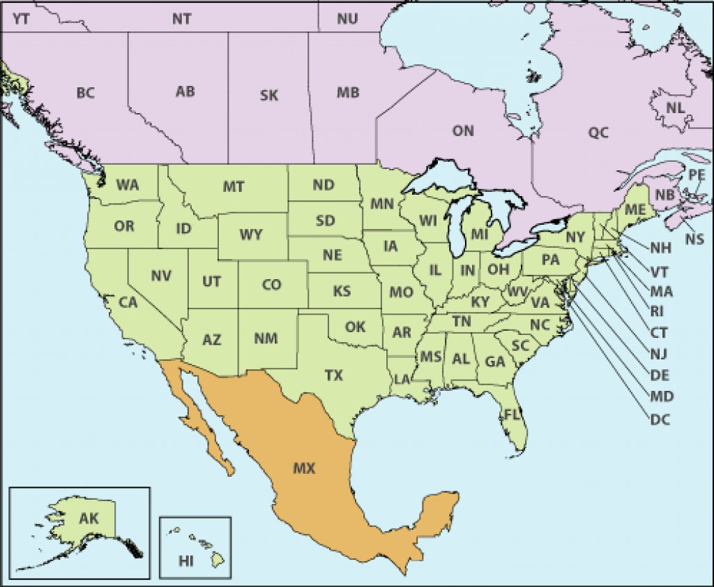 U.s. - Canada - Mexico Cross-Border Operations -Jurisdiction with Mexico And The United States Map