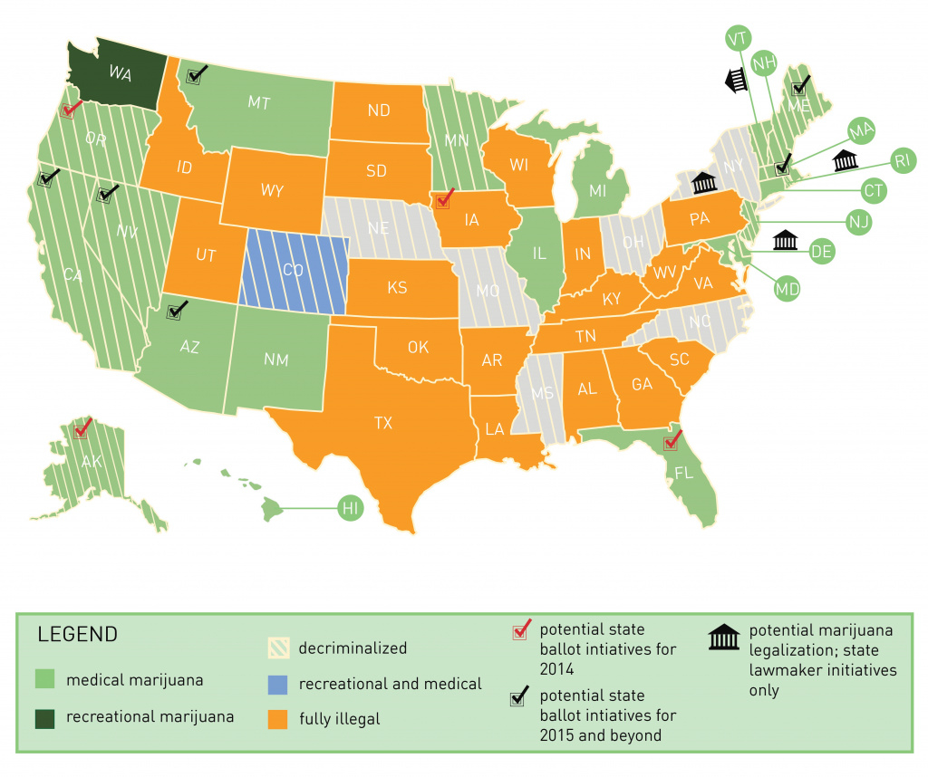 U.s. Marijuana Legalization Map | Canna Law Blog™ inside States Where Weed Is Legal Map