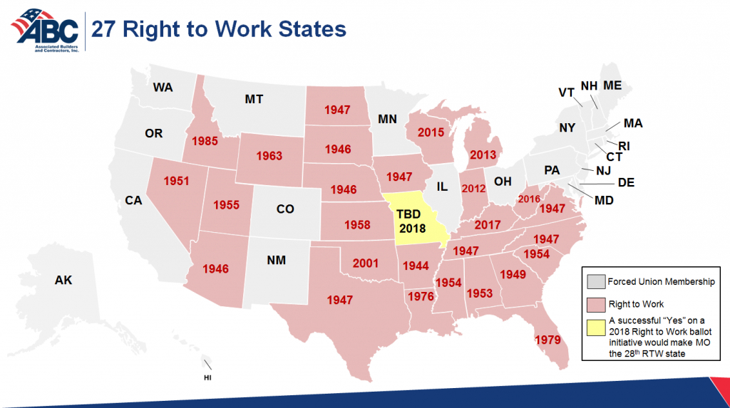 Understanding Plas In Right To Work States - The Truth About Plas intended for Map Of Right To Work States
