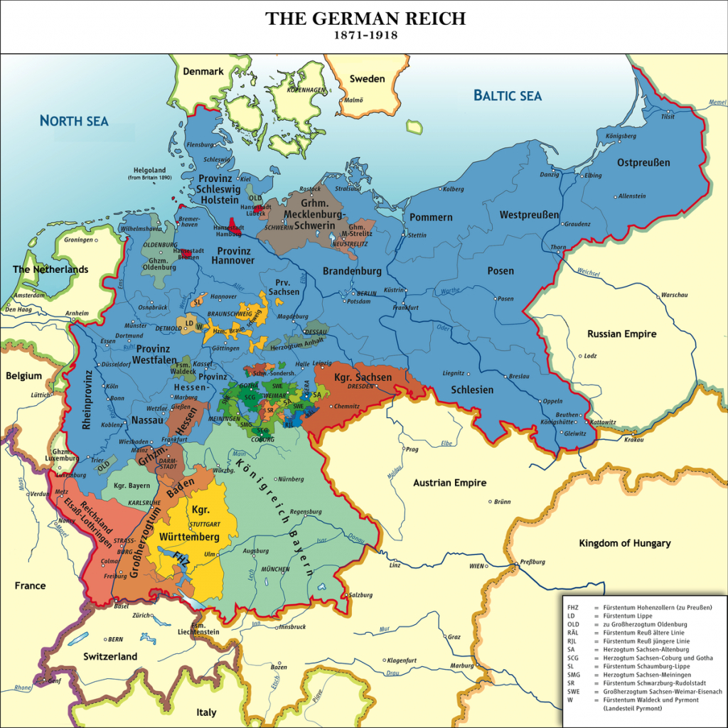 Unification Of Germany - Wikipedia inside German States Map 1850