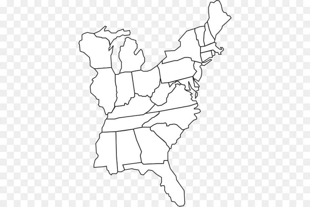 United States Blank Map World Map Geography   East Coast Of The With Blank Map Of East Coast States