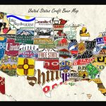United States Craft Beer Wall Map Art Poster Of Breweries In United States Product Map