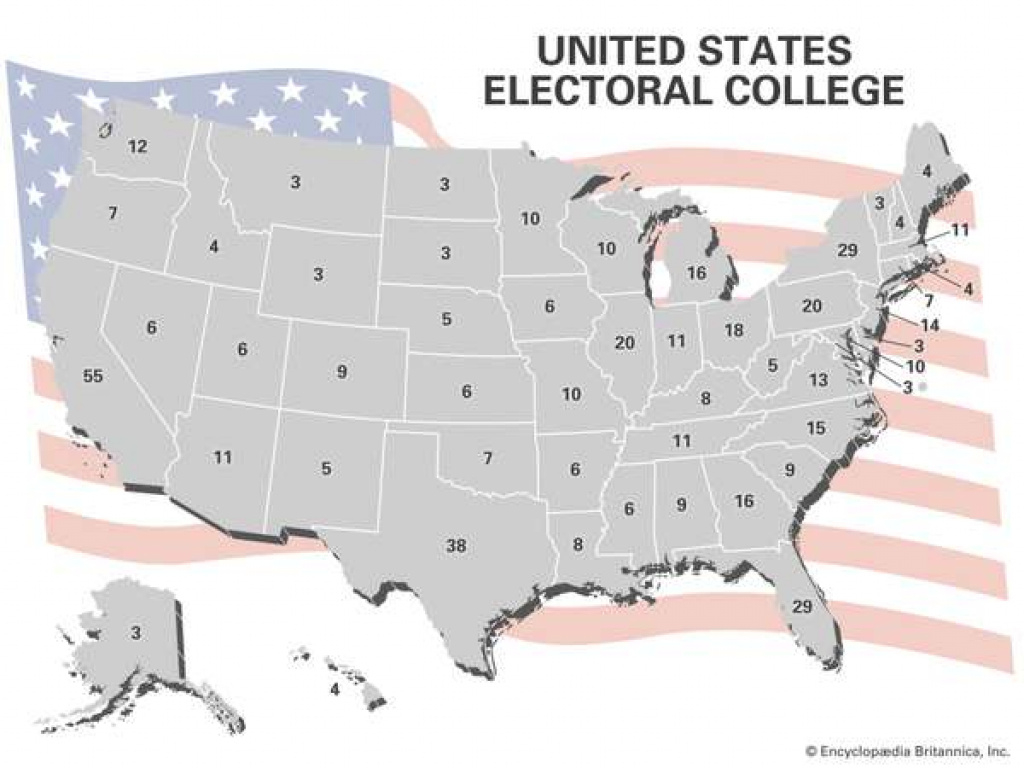 United States Electoral College Votesstate | Britannica with Electoral Votes By State Map