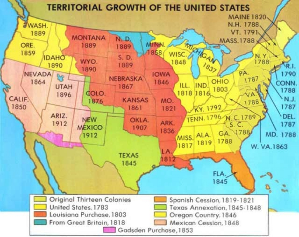 United States Expansion Map Growth Of The United States To 1853 Map Maps intended for Growth Of The United States To 1853 Map